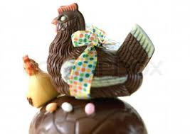 images chocolate and chick on egg