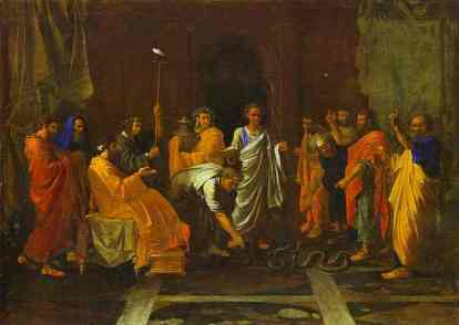 Moses Turning the Aaron's Staff into a Serpent Nicolas Poussin