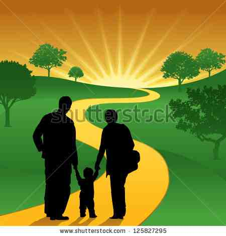 stock-vector-a-young-family-starting-their-journey-of-life-125827295
