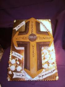 wooden cross cake  christ profess