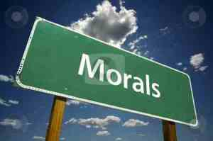 cutcaster-photo-100139446-Morals-Road-Sign