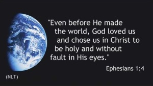 Eph 1-4 Before He made Earth with black