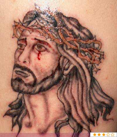 best-jesus-tribal-tattoo