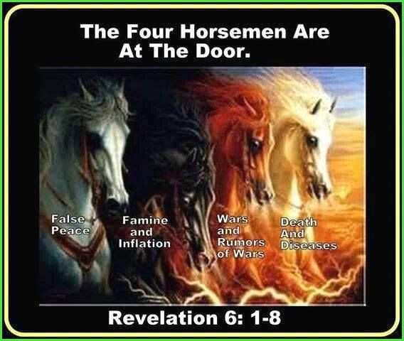 four horsemen bible verse New bible art revelation 6 Google Search