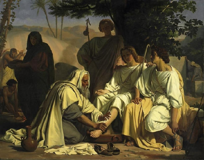 Genesis-18-verses-1ff-Abraham-and-Jesus-with-two-angels