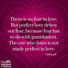 There is no fear in love scripture