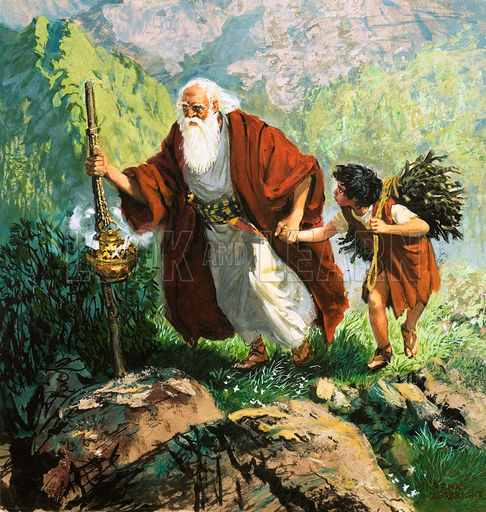 Abraham is ordered by God to sacrifice his son