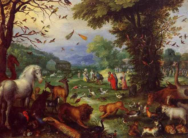 Jan-Bruegel-the-Elder-Landscape-of-Paradise-and-the-Loading-of-the-Animals-in-Noah_s-Ark