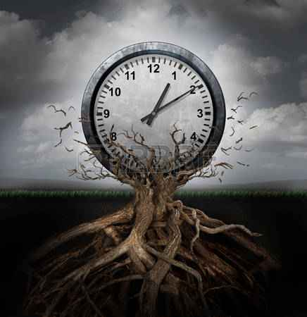45261473-time-planning-and-efficiency-management-business-concept-as-a-clock-breaking-free-from-a-tree-trunk