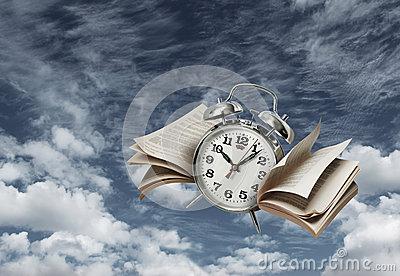 de-tijd-vliegt-geschiedenisconcept-25990830