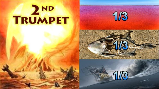 Second-Trumpet-Something-Like-a-great-Mountain-Burning-Third-Sea-Blood-Third-Sea-Creachers-Died-Third-Boats-Wreck-Seven-Trumpets-Book-of-Revelation