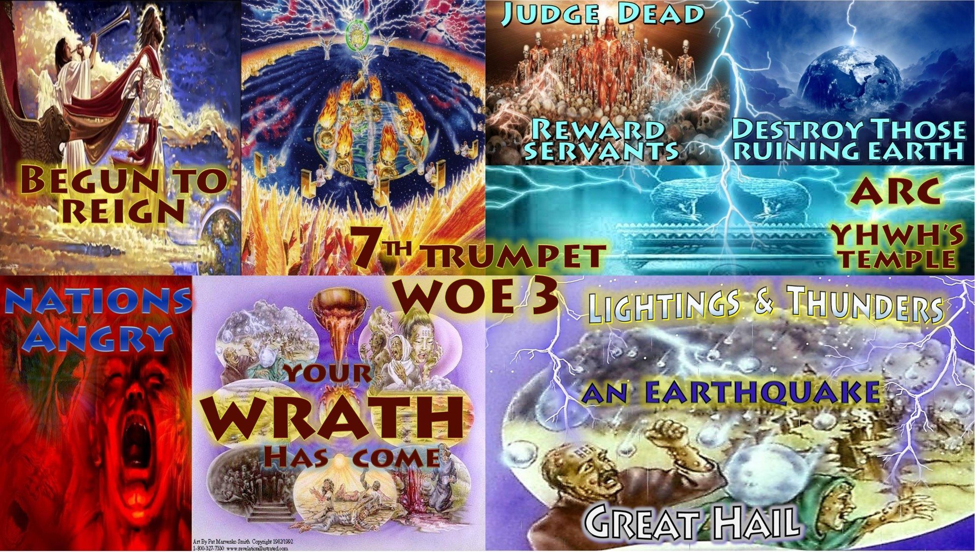 Seventh-Trumpet-Third-Woe-Begun-to-Reign-Nations-Angry-Wrath-Reward-Judg-Dead-Arc-Hail-Seven-Trumpets-Book-of-Revelation