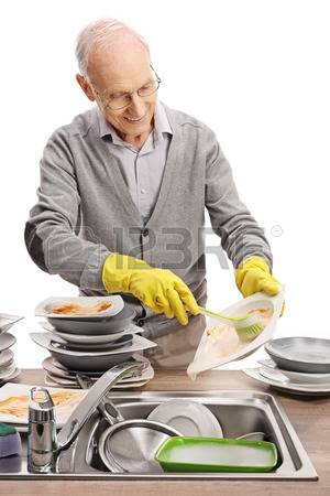 77836142-elderly-man-doing-the-dishes-isolated-on-white-background