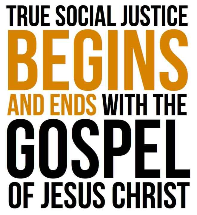 social justice and the gospel